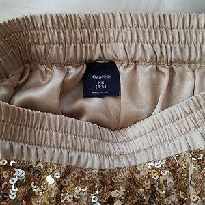 GAP Bottoms - GapKids | Gold Sequined Skirt